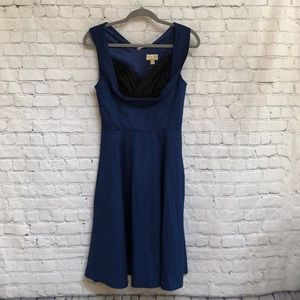 NWT Lindy Bop Retro Style Blue Fit & Flare Dress
